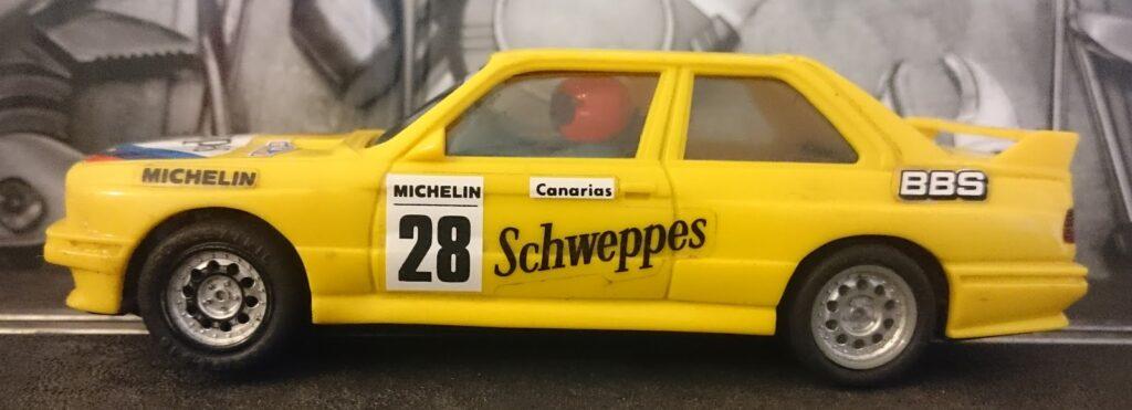 BMW M3 de Scalextric Exin amarillo